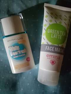 Bundling paket emina facemask & maybelline white superfresh