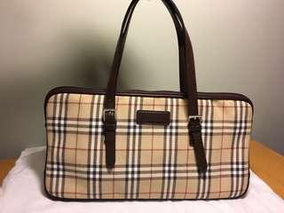 Burberry canvas/leather Handbag