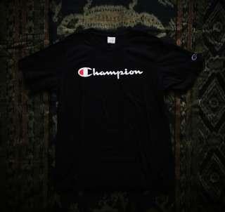 Champion Script Tee Black
