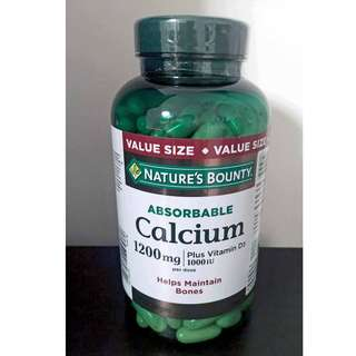Nature's Bounty 1200 mg Calcium with 1000IU Vitamin D3