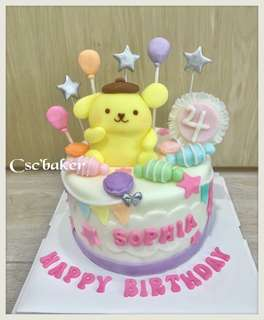 布甸狗蛋糕 手袋蛋糕 立體蛋糕 3d蛋糕