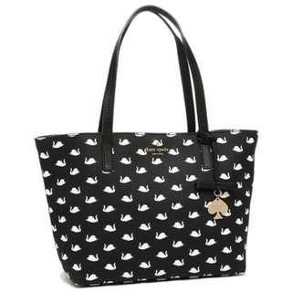 Kate Spade Hawthorne Lane SWAN Small Ryan Tote Bag (Black/White)