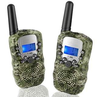 13.Topsung T388 Walkie Talkies for Family, FRS/GMRS Two Way Radio Long Range 22 Channels VOX Cruise Gear Portable Toys Walky Talky for Hunting Riding Adventure (Camo 2 Pack)