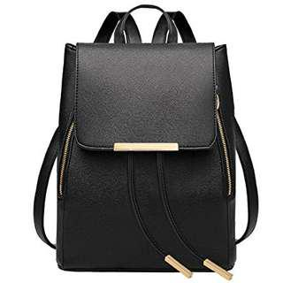 Black Korean Style Backpack