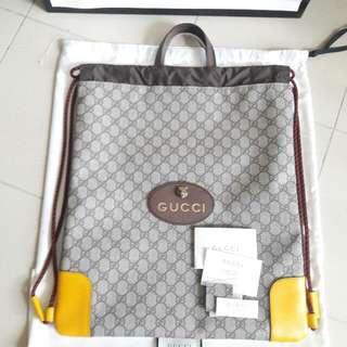 Gucci GG Logo Monogram Brown Pvc Canvas Shoulder Handbag Hand Bag Backpack 古馳 啡色 防水物料 帆布 老虎 老虎頭 手挽袋 手袋 肩袋 背包 背囊 袋