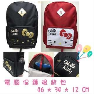 🚚 正版授權 三麗鷗 HELLO KITTY 凱蒂貓 電腦保護後背包 後背筆電背包 書包 收納包 置物包