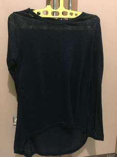 Black Top (baju panjang hitam tembus pandang)