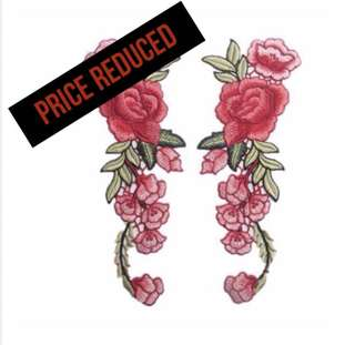 PRICE DROP: Floral Embroidered Collar Patches