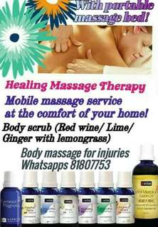 90 mins massage with portable massage bed in the comfort of your home!