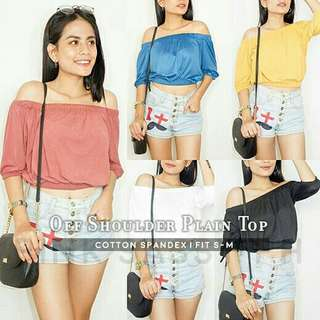 Off shoulder plain top