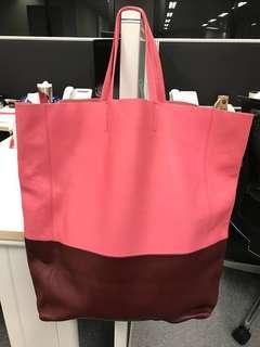 Celine 羊皮粉紅色手袋