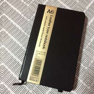Moleskin Inspired Leather Type A6 Notebook