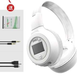 全新白色無線藍牙耳機頭戴式(送usb ,音頻線,電池)