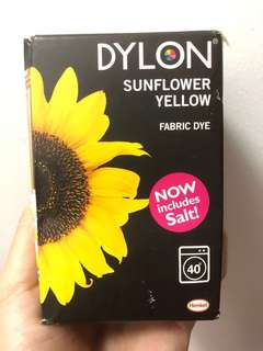 BNIB Dylon Fabric Dye in Sunflower Yellow (350g)