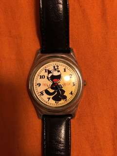 Vintage fossil felix the cat watch
