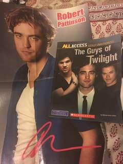 The guys of twilight + free robert pattinson poster with autograph