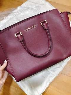 Michael Kors Selma Cinnabar Satchel / Handbags/ Tote