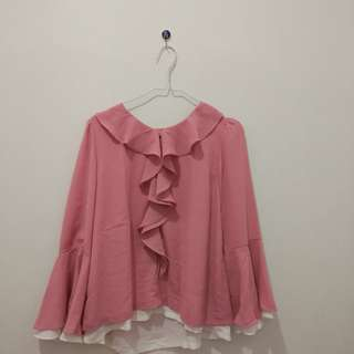 Blouse Pink Cute Amary All Size