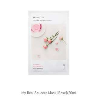 Innisfree face mask (my real squeeze mask)