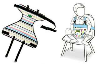 Baby portable chair belt booster seat alternative