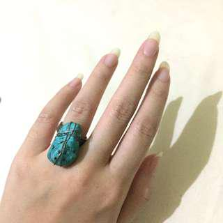 Topshop Turqoise Marble Stone Ring