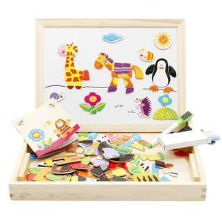 Magnetic Educational Puzzles With writing board 2in1