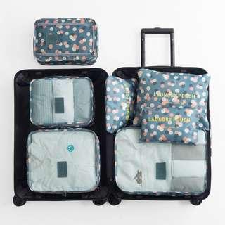 🚚 旅行收納袋出差行李箱衣物整理袋便攜旅遊衣服內衣收納包6件套裝