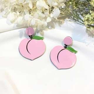 Peach booty Korean Kpop/ Harajuku earrings