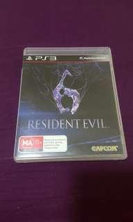 PS3 Game Residence Evil 6