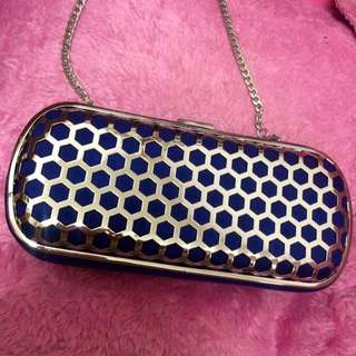 NEW Silver Caged Clutch Bag
