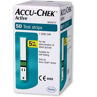 Accu Chek Active Strips (50, but actually 49)