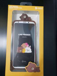 Line friends Galaxy S9+ smart phone case