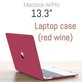 "Laptop hard case - Macbook Air/Pro 13.3"" (red wine)"