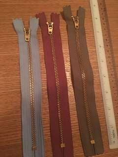 YKK metal zip 8 inches