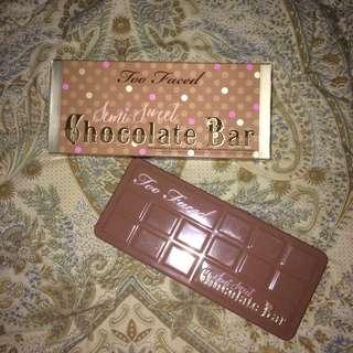 Too Faced Semi-Sweet Chocolate Bar Eyeshadow Palette 100% Original