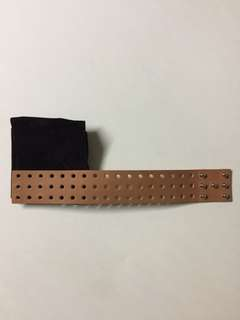 HERMES leather bracelet (size: L) (new, no box)