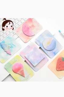 🚚 Cute pastel watercolour post its !!