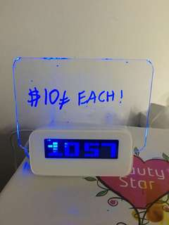 Alarm clock with luminating whiteboard and 4 usb ports