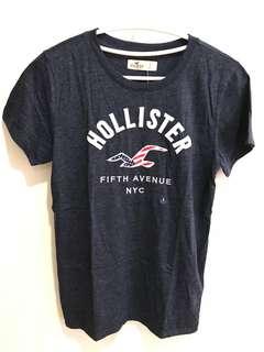 全新品 Hollister海鷗款女生圓領T恤(深藍)