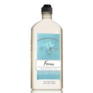 🚚 BN Bath & Body Works Aromatherapy FOCUS - EUCALYPTUS & TEA Body Wash & Foam Bath 295ml