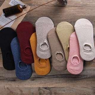 🚚 5⃣️雙 短襪 純條紋 棉 淺口隱形薄款 日系襪子夏天防滑