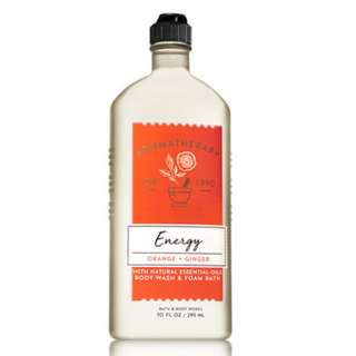 🚚 BN Bath & Body Works Aromatherapy ENERGY - ORANGE & GINGER Body Wash & Foam Bath 295ml
