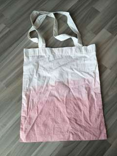 TOTEBAG OMBRE PINK