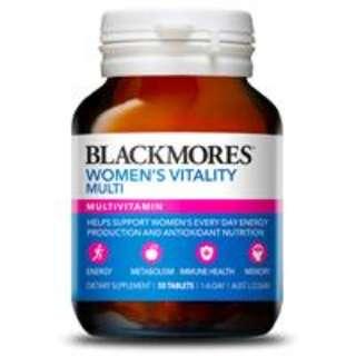 Blackmores 澳佳寶女性活力複合營養素女士維生素50片