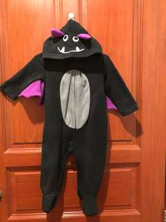 Small Wonders Bat Hooded Bodysuit