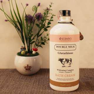 Scentio Double Milk Triple White Bath Cream original [JASTIP HANDCARRY THAILAND]