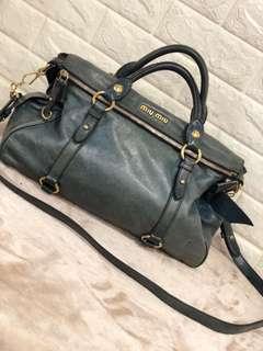 MiuMiu Bauletto Vitello Lux Handbag