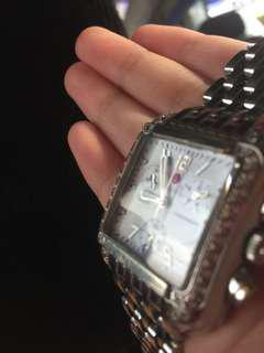 Michele Women's Stainless Steel, Sapphire Crystal, Water Resistant Watch.