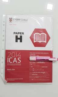 ICAS 2014 English Paper H hour Secondary 3