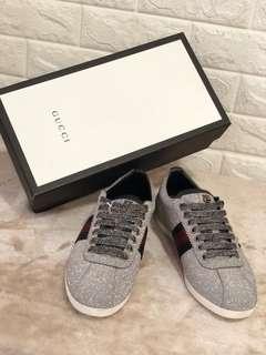 Gucci Glitter Web Studded Sneaker